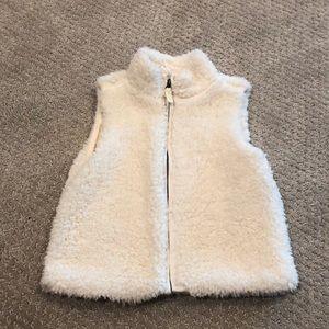 OshKosh Fuzzy Ivory Vest
